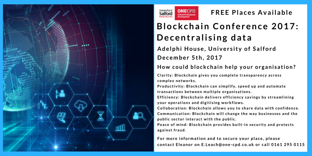 Join us at the Manchester Blockchain Conference 2017